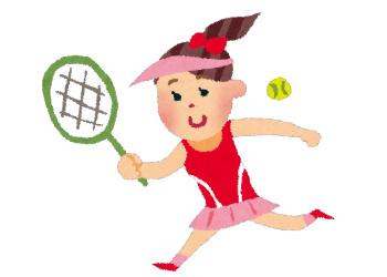 センスあふれるテニス少女